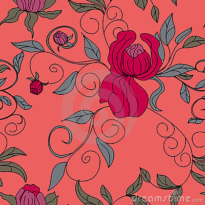 Colorful floral seamless wallpaper