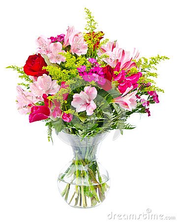 Colorful flower bouquet arrangement centerpiece