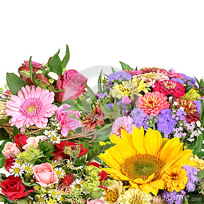 Free Colorful Flower Bouquets Royalty Free Stock Image - 42888066