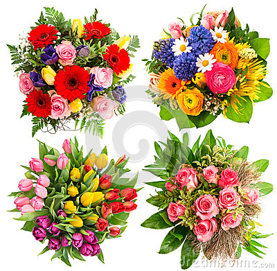 Free Colorful Flower Bouquets For Birthday, Wedding Royalty Free Stock Photos - 39589208