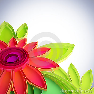 Colorful flower in quilling techniques.