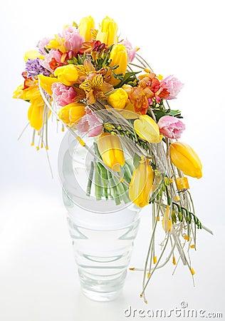 Free Colorful Flowers Bouquet Arrangement Centerpiece Royalty Free Stock Image - 23441446