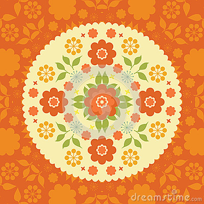 Colorful flowers floral background