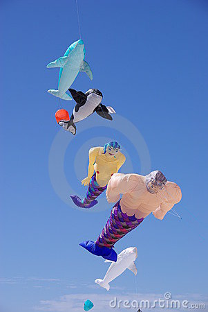 Colorful flying kites Editorial Stock Photo