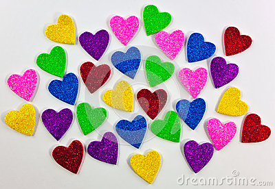 Colorful foam heart