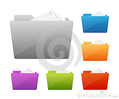 Colorful folder icon