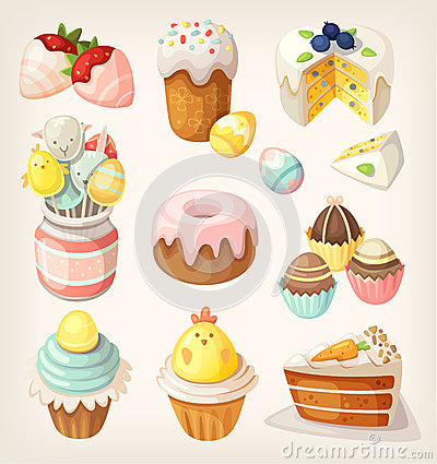 Free Colorful Food For Easter Party. Royalty Free Stock Photo - 50978875