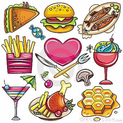 Free Colorful Food Icons 1 Stock Image - 18980991