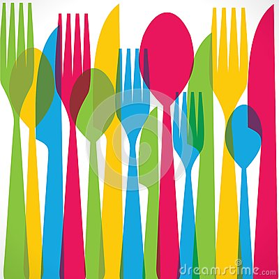 Colorful fork background