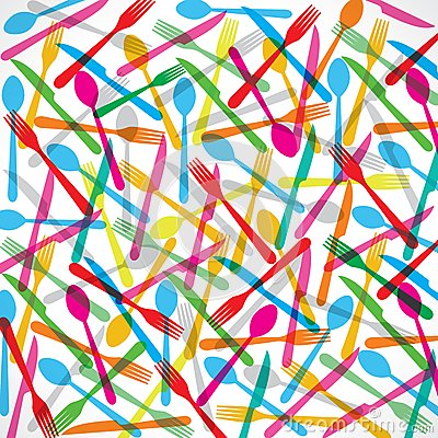 Colorful forks background