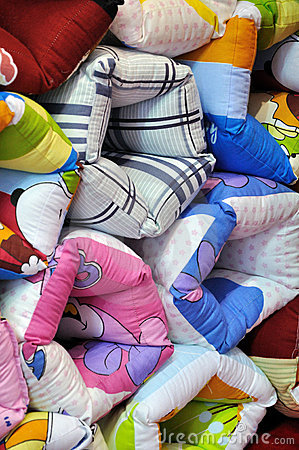 Colorful frabric pillow
