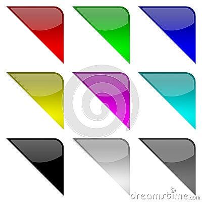 Colorful frame corners