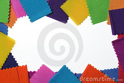 Colorful frame of paper