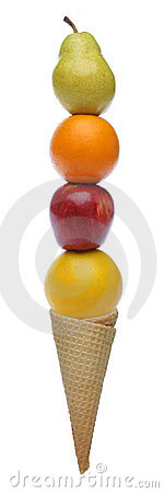 Free Colorful Fresh Fruits Icecream Royalty Free Stock Images - 639739