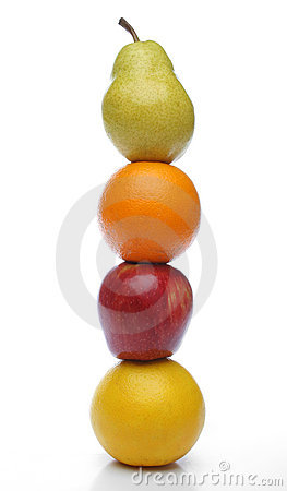 Free Colorful Fresh Fruits Totem Royalty Free Stock Photos - 639738