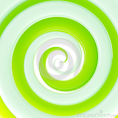 Colorful fresh green glossy twirl background