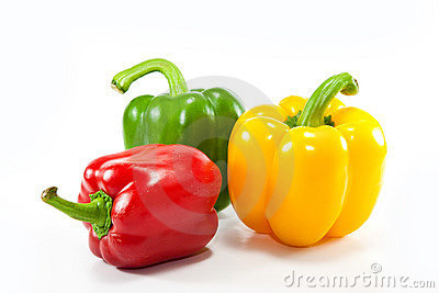 Colorful fresh mixed bell peppers