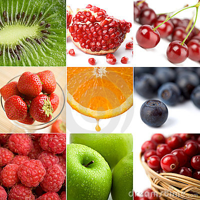 Free Colorful Fruit Collage Of Nine Photos Royalty Free Stock Image - 8326196