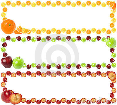 Free Colorful Fruit Frames Stock Photography - 23451052