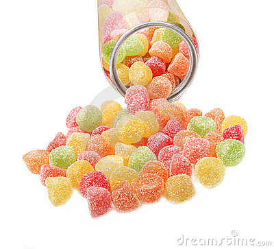 Colorful fruit jelly candies