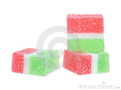 Colorful fruit-paste sweets