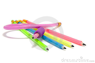 Colorful funny flexible pencils