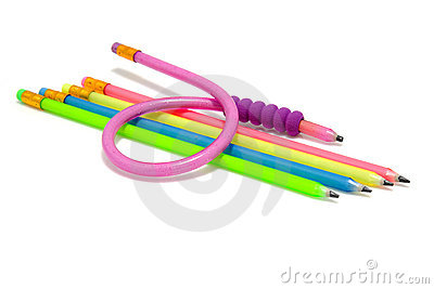 Colorful funny flexible pencils