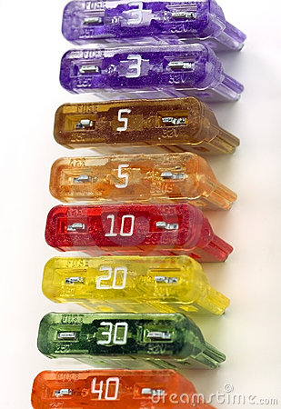Free Colorful Fuses Line Up Stock Photography - 396162