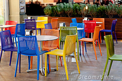 Colorful Garden Cafe