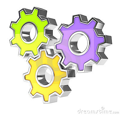 Colorful gears icon