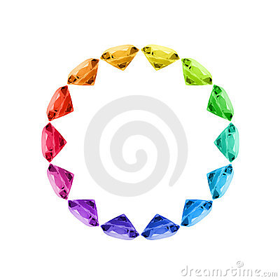 Free Colorful Gem Wheel Stock Photo - 19266770