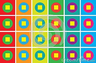 Colorful geometric mosaic