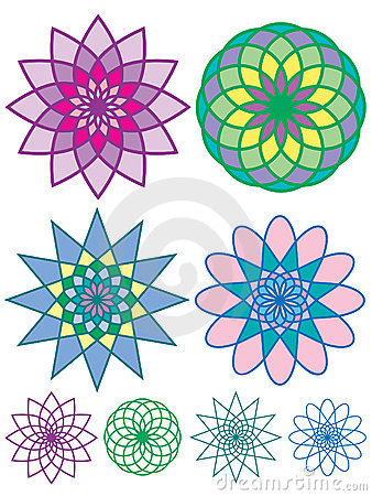 Free Colorful Geometric Patterns Royalty Free Stock Photography - 4951067