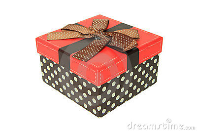 Colorful gift box on a white background