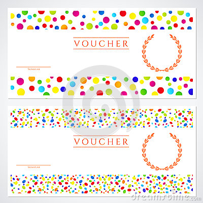 Colorful Gift Certificate (Voucher) Template Stock Photos - Image ...