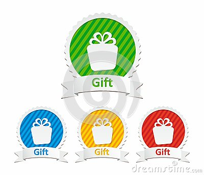 Colorful gift icons