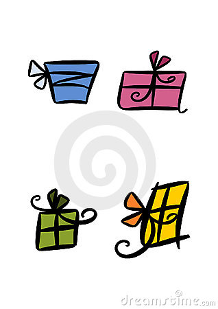 Colorful gift packages