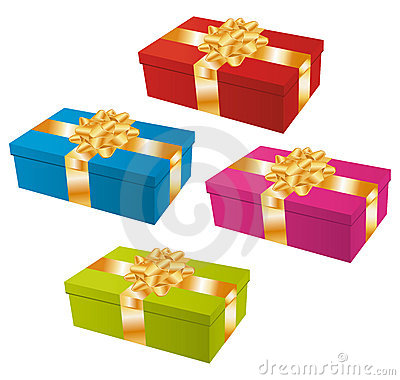 Colorful gifts set.