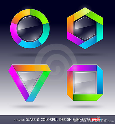 Colorful and glass design element
