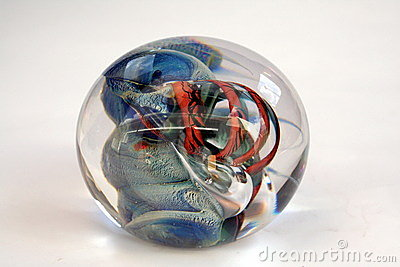 Colorful Glass Paper Weight