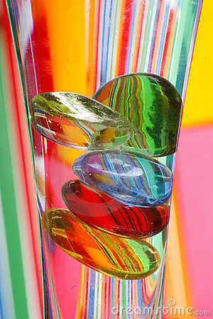 Free Colorful Glass Pebbles In Vase Stock Photos - 4843203
