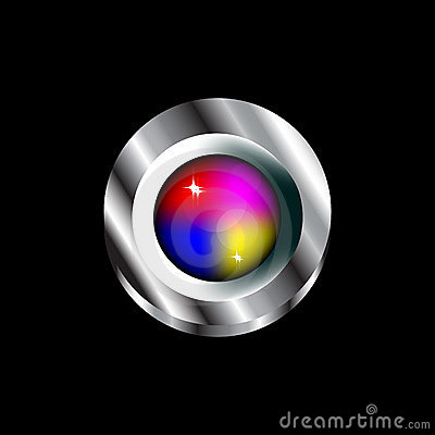 Colorful Glass Push Button