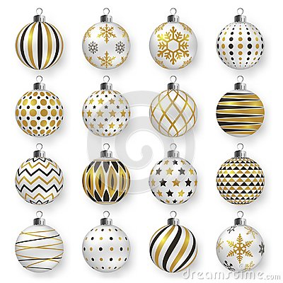 Free Colorful Glossy Christmas Balls With Shadows. Set Of  Realistic Decorations. Stock Image - 103558031