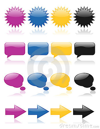 Free Colorful Glossy Web Icons 2 Stock Images - 3531924