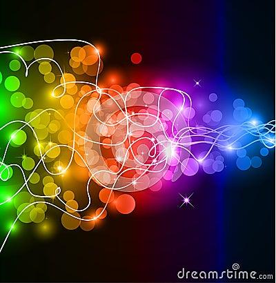 Colorful Glow if rainbow Lights