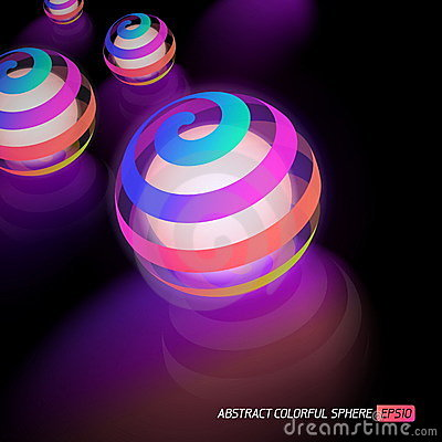 Colorful glowing ball