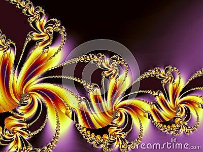 Colorful golden spiral design