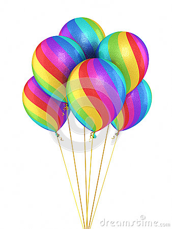 Colorful Gradient Balloons