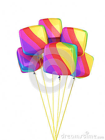 Colorful Gradient cubes Balloons