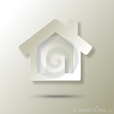 Ecological house  abstract icon